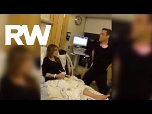 Robbie Williams wspiera żonę tuż przed porodem