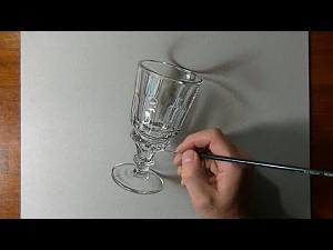 Superrealistyczne rysowanie szklanki
