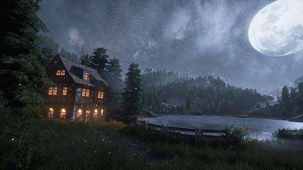 Tworzenie nocnej sceny nad jeziorem w Unreal Engine 4