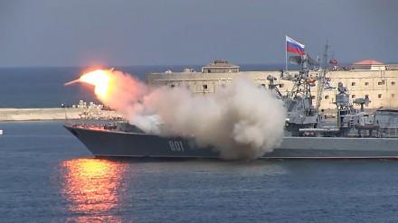 Rosyjski okręt odpalił rakiety i coś poszło nie tak