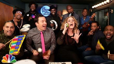 Jimmy Fallon, Adele & The Roots śpiewają Hello