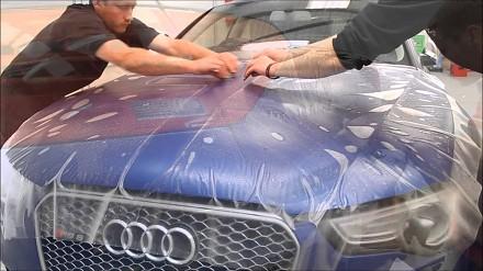 Audi RS5 oklejana folią matowo-bezbarwną