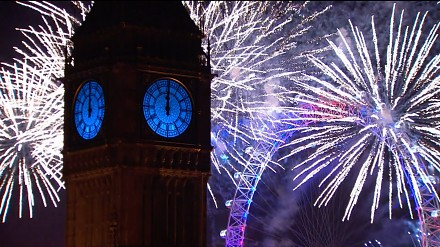 Największy synchronizowany pokaz sztucznych ogni - Londyn 2016
