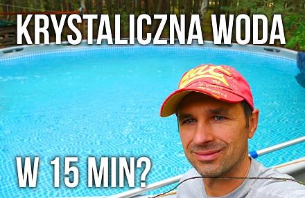Jak uzyskać krystaliczną, lazurową wodę w basenie ogrodowym?