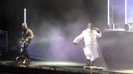 Rammstein w czasie koncertu we Wrocławiu
