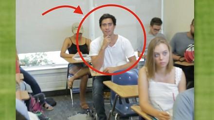 Zach King pokazuje jak potajemnie spać na lekcji