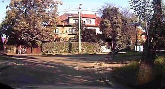 Rowerzysta akrobata w Zabrzu