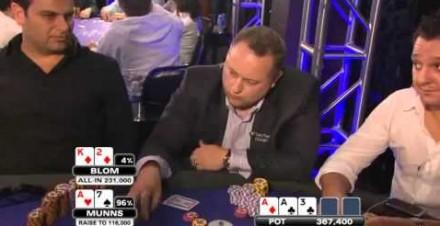 Nieudany blef podczas rozgrywki pokera