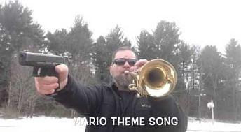 Cover motywu z Mario na dwóch instrumentach