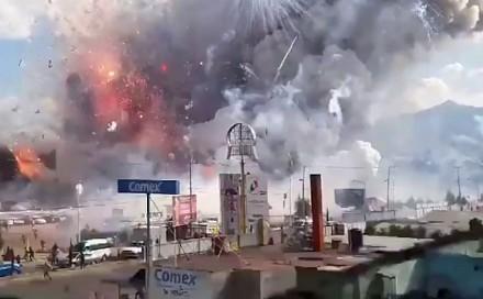 Katastrofa w sklepie z fajerwerkami w Meksyku