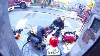 Polscy strażacy w akcji    JRG Świętochłowice