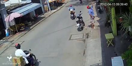 Uliczna sprawiedliwość dla złodzieja w Wietnamie