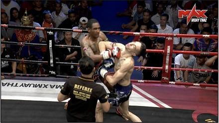 Pierwszy w historii Muay Thai podwójny nokdaun