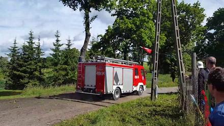 W Baranowie straż pożarna jechała na czołówkę z rajdówką