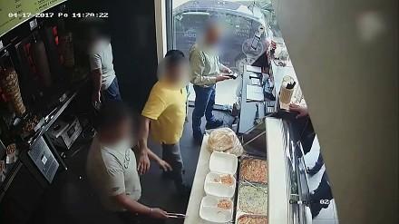 Burda w barze z kebabem w Łodzi