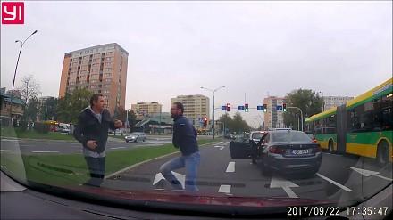 GTA Tychy - pobili się na skrzyżowaniu