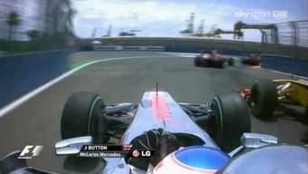 Button kontra Kubica - walka o centymetry na zakręcie