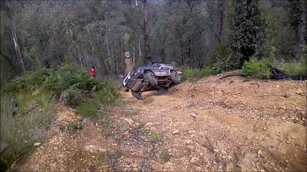 Nieudany podjazd pod stromą górkę