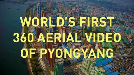 Pierwsze powietrzne wideo 360° z Pjongjangu