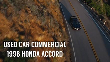Zrobił reklamę używanej Hondy Accord z 1996 sprzedawanej przez jego dziewczynę