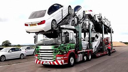 Samochody z lawety czas rozładować