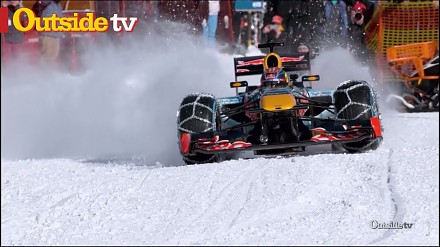 Slalom gigant... bolidem F1