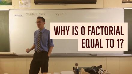 Gość w prosty sposób wyjaśni ci, dlaczego 0! = 1