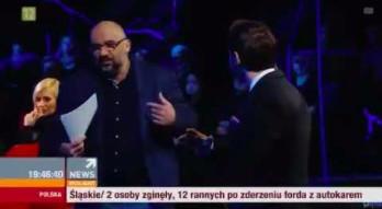 """Policjant przerwał występ gościa podczas programu """"Państwo w państwie"""""""