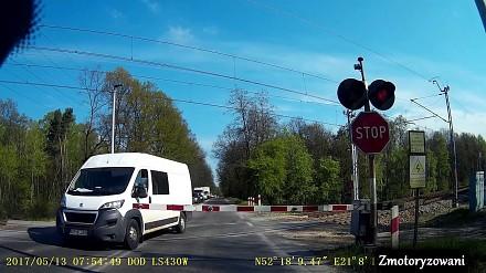 Polska cierpliwość na przejeździe kolejowym