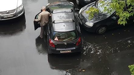 Oryginalny wyjazd z parkingu