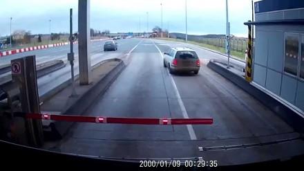 Manewr tygodnia - kierowca skody na autostradzie A4