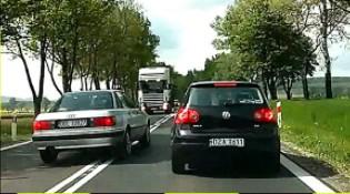 Wyprzedzanie na zakręcie i inne karygodne przypadki z polskich dróg