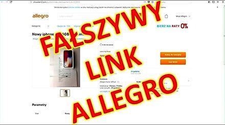 Oszustwo z OLX - fałszywy link do aukcji allegro
