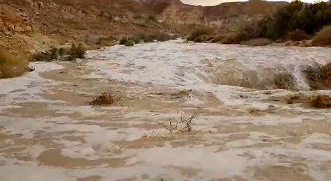 Powódź błyskawiczna na pustyni Negew - wkrótce pełna relacja od redaktora JM