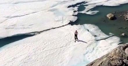 Narciarz górsko-wodny