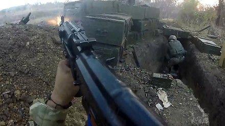 Film z walki w ukraińskich okopach