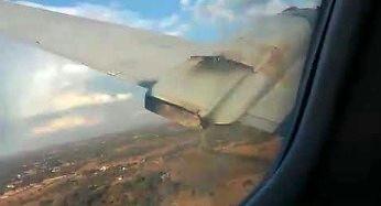 Katastrofa samolotu nakręcona od środka