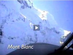 Lot nad szwajcarskimi Alpami