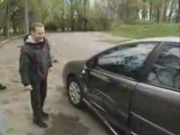 Jazda próbna - wypadek na planie u Jagielskiego