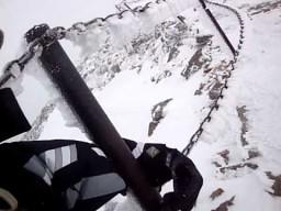 Rekordowa prędkość wiatru na Śnieżce
