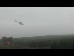 Załadunek choinek helikopterem w Oregonie