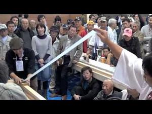 Japońscy mistrzowie szlifowania drewna