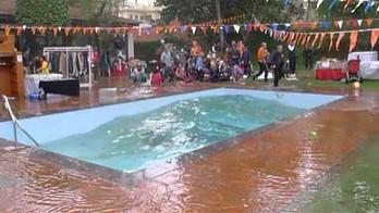 Potęga trzęsienia ziemi przedstawiona na przykładzie basenu