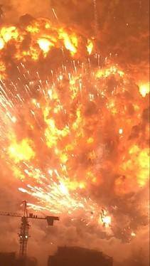 Eksplozja w Chinach widziana z 33 piętra