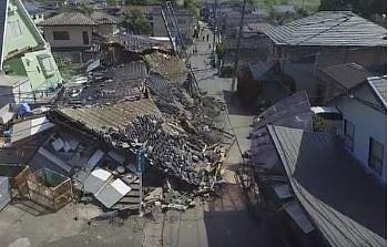 Nagranie ukazujące siłę trzęsienia ziemi o sile 7,8 w skali Richtera