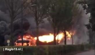 Jak płonie autobus na gaz?