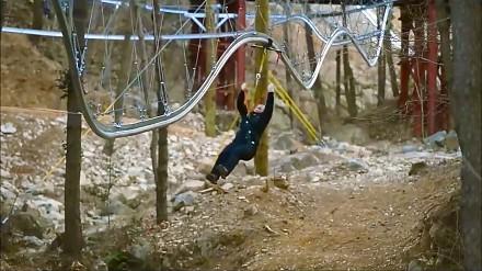 """Roller Coaster Zipline"" - niesamowity rollercoaster"