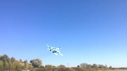 Szalony pilot ukraińskiego Su-27