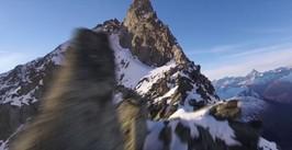 Przelot dronem w górach. Widoki niczym z Władcy Pierścieni