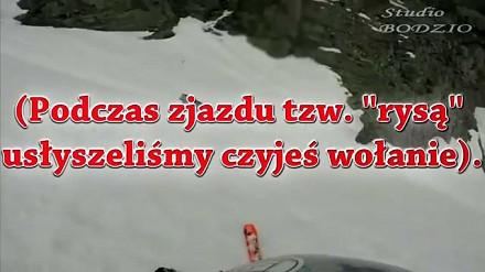 W dresie i adidasach wchodził po śniegu na Rysy